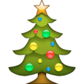 Christmas tree emoji apple