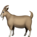 Goat emoji apple