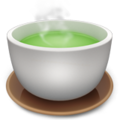 Emoji green tea apple