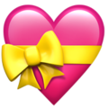 Heart Ribbon emoji apple