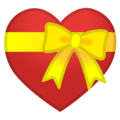 Heart Ribbon emoji google