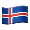 Iceland emoji apple