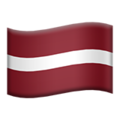 Latvia emoji apple