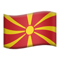 North Macedonia emoji apple
