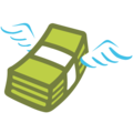 Money Wings google emoji