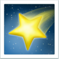 Shooting Star apple emoji