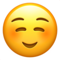 Smiling Face emoji apple