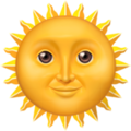 Smiling Sun Emoji Apple