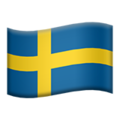 Sweden emoji apple